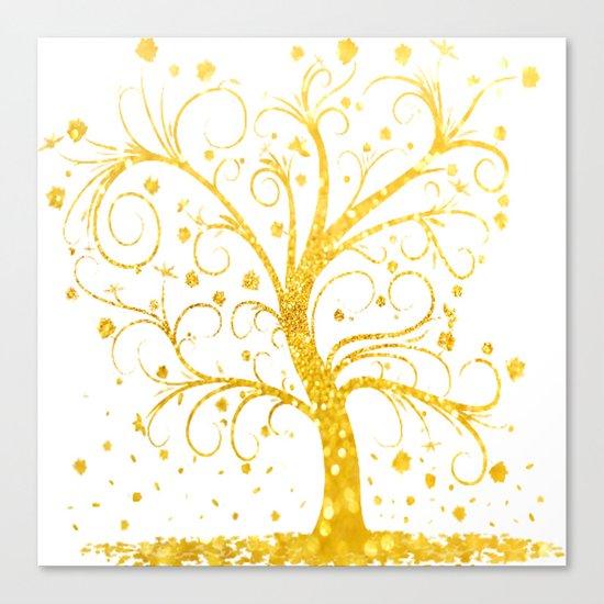 Gold Tree Canvas Print