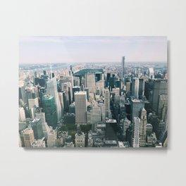 Looking down at NYC Metal Print
