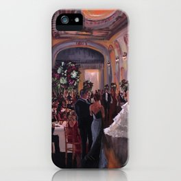 Ally & Jeff at The Bourne Mansion iPhone Case