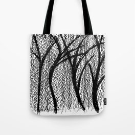 Trees in the MoMA sculpture garden Tote Bag