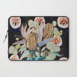 Dark Floral Still Life with Banksia Pods and Tigers Laptop Sleeve
