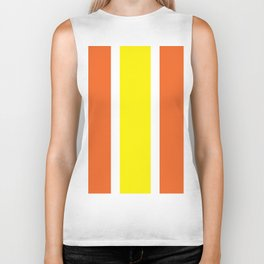 TEAM COLORS 10 ...YELLOW, ORANGE Biker Tank