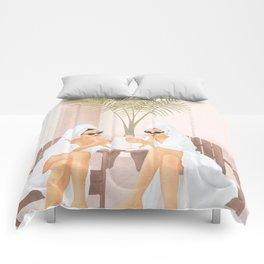 Morning with a friend III Comforters