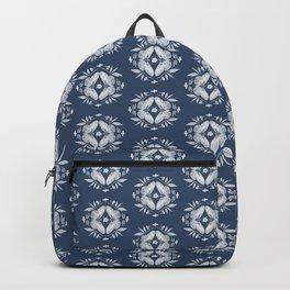 Blue Butterfly Motif Backpack