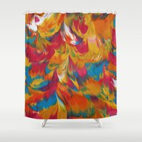 psychedelic Shower Curtains featuring Psychedelic by DuckyB
