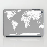 political iPad Cases featuring A Political Map of the World by Catherine Holcombe