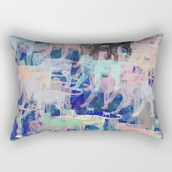 Instinctive Kittens Abstract Rectangular Pillow