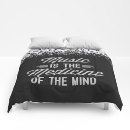 Music Medicine Mind Quote Comforters
