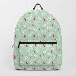 Holiday Cheer Brush Script Pattern Backpack