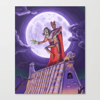 dracula Canvas Prints featuring Dracula by cheesecake