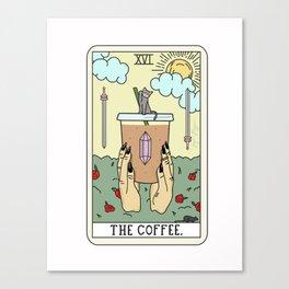 COFFEE READING Canvas Print