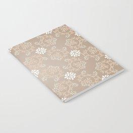 Beige silk Notebook