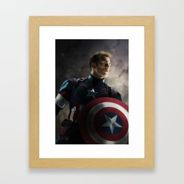 CaptainAmerica Framed Art Print