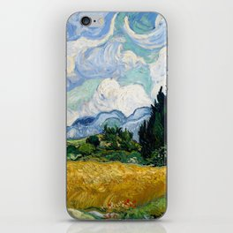 Wheat Field with Cypresses - Vincent van Gogh iPhone Skin