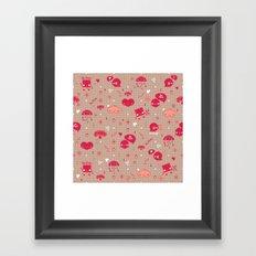 Be free Pattern Framed Art Print