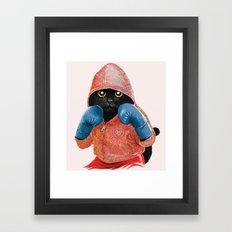 Boxing Cat 2  Framed Art Print