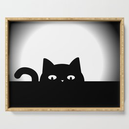 Peeking Cat Serving Tray