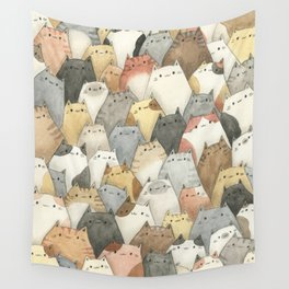 Sea of Cats Wall Tapestry