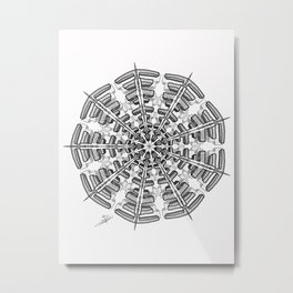 Urban Ornament Metal Print