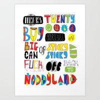 Here's Twenty Quid Art Print