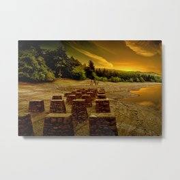 Pillars of the Past Metal Print