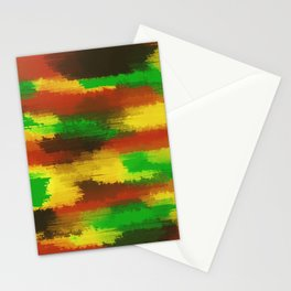 green red yellow and brown painting abstract background Stationery Cards