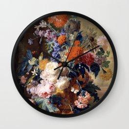 """Jan van Huysum """"Still life"""" Wall Clock"""