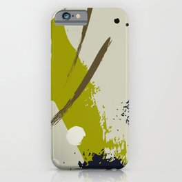 Khaki brush iPhone Case