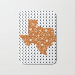 Texan texas longhorns orange and white university college football dots Bath Mat