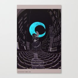 Swirley Shirley Canvas Print