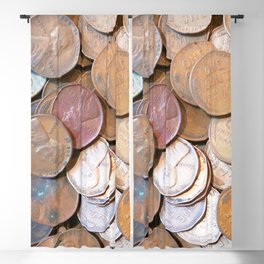 Watercolor Coins, Lincoln Wheat Pennies, 1939 03 Blackout Curtain