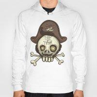 pirate Hoodies featuring pirate by adi katz