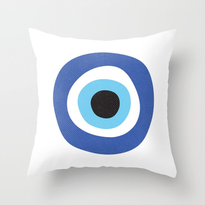 Evi Eye Symbol Throw Pillow
