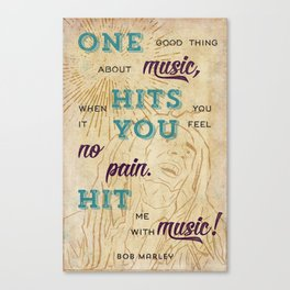 Marley Quote Poster Canvas Print