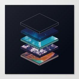 Geometric Earth Layers Canvas Print