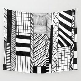 Mono Geo Lines Wall Tapestry