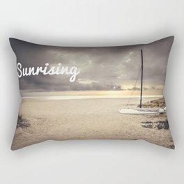 Dramatic sunrise on the beach Rectangular Pillow