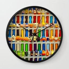 pez dispensers Wall Clock