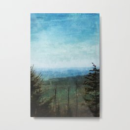 View from Clingman's Dome Tennessee Smoky Mountains Metal Print