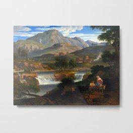 Joseph Anton Koch Waterfalls at Subiaco Metal Print