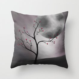 Midnight Peach Throw Pillow