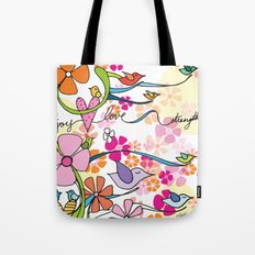Peace, Joy, Love and Strength Tote Bag