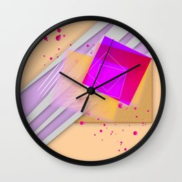 1980S HIP TO BE SQUARE Wall Clock
