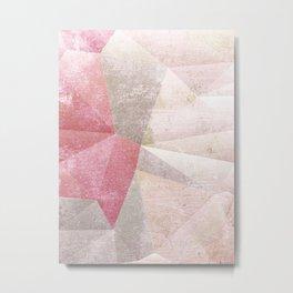 Frozen Geometry - Blush & Champagne #abstractart Metal Print
