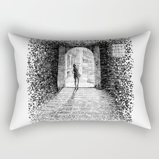 Light - Black ink Rectangular Pillow