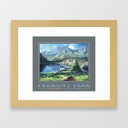 Fremont Peak Framed Art Print