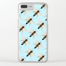Wasp Swarm Pattern Clear iPhone Case