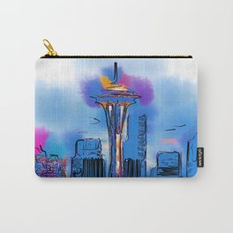 The Space Needle In Soft Abstract Carry-All Pouch