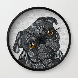 Black Pug 2016 Wall Clock