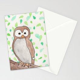 Owl by Laila Cichos Stationery Cards